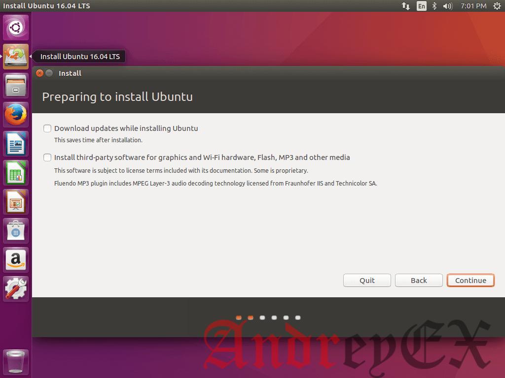 Подготовка к установке Ubuntu 16.04
