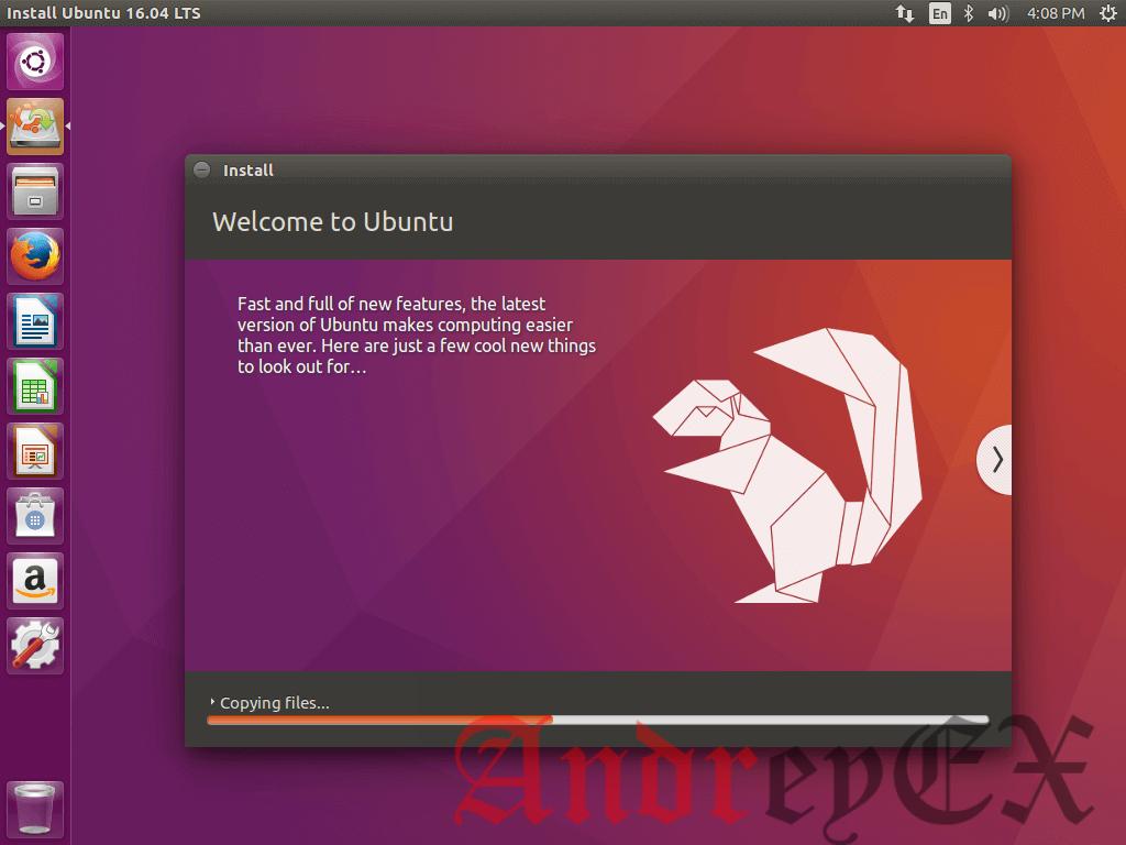 Процесс установки Ubuntu 16.04
