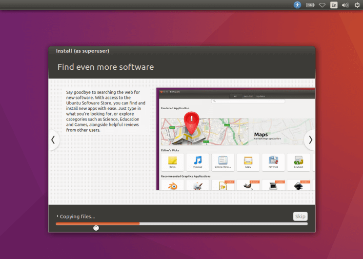 Процесс установки Ubuntu 16.10