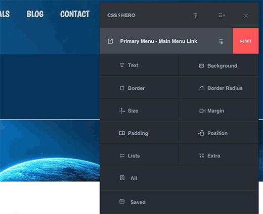 Редактирование пользовательского CSS в плагине  Hero CSS для WordPress