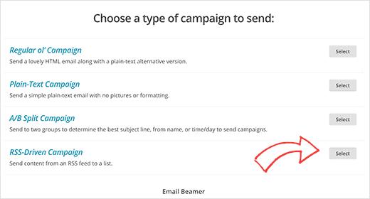 Создание RSS-кампании в MailChimp