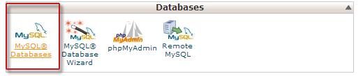 Создание базы данных MySQL в CPanel