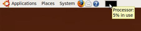 Ubuntu для отображения хода процесса значок на панели задач панели