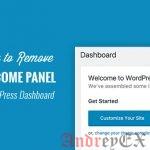 Удалить приветственную панель в панели WordPress