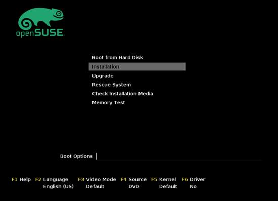 Установка openSUSE