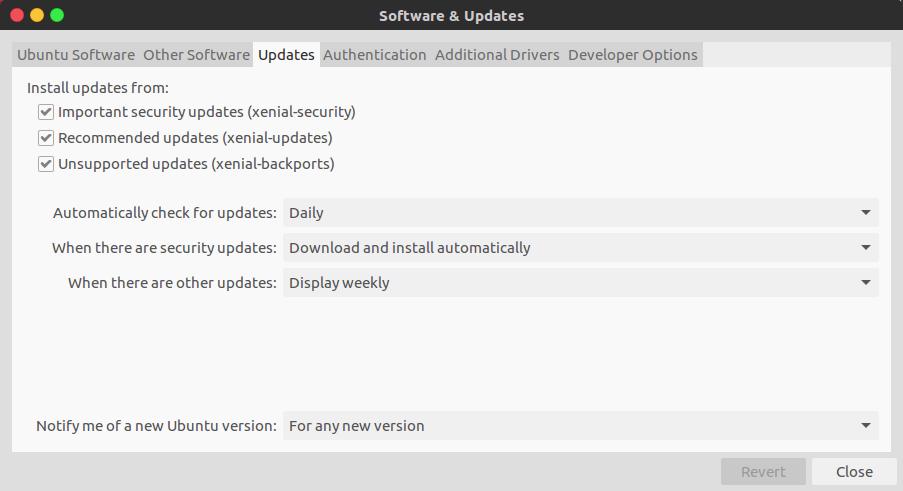Уведомление новых версии Ubuntu