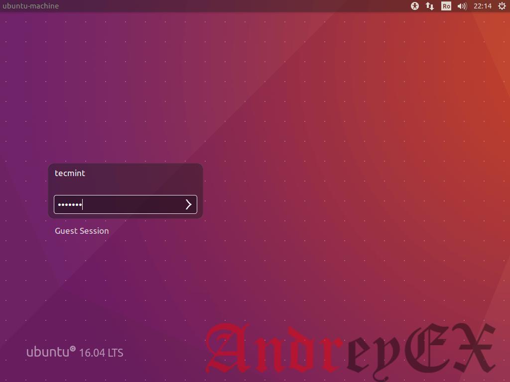 Войти в Ubuntu 16.04