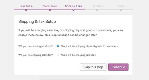 WooCommerce доставка и налоговая информация