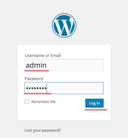 WordPress вход