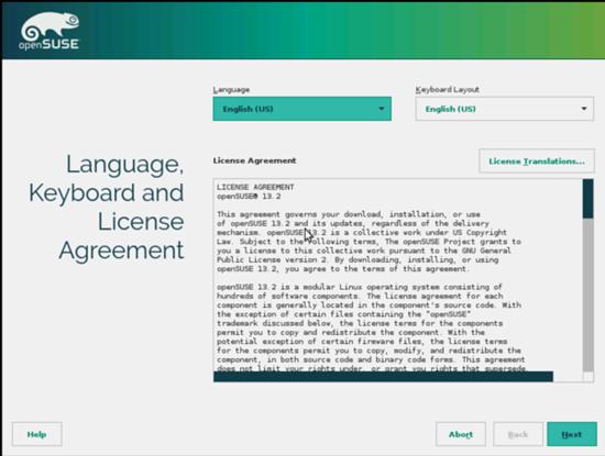 openSUSE. Лицензионное соглашение