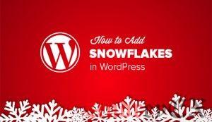 Как добавить падающие снежинки в ваш блог