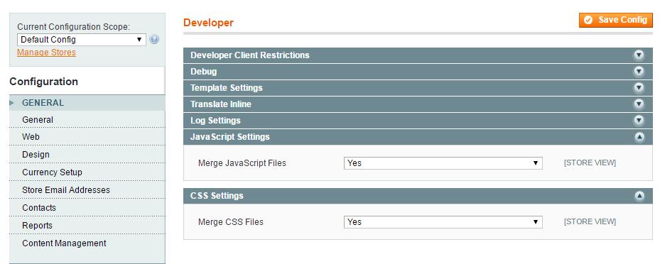Объеденение (Минимизирование) CSS и Javascript файлов