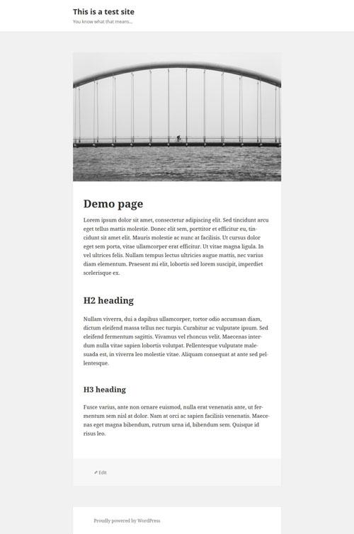 Пользовательский шаблон страницы во всю ширину для темы Twenty Fifteen