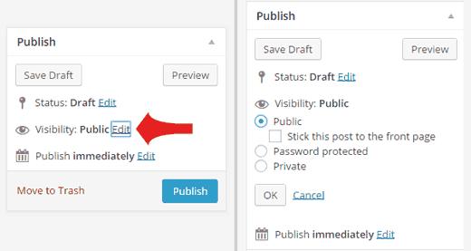 Создание частных или защищенных паролем постов в WordPress