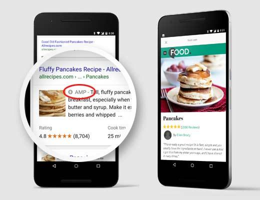 Ускоренные мобильные страницы (AMP) в области поиска и браузера