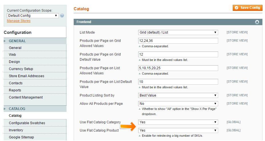 Включение данных плоских продуктов и категории
