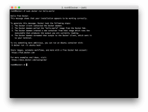 Вывод hello-world в Docker