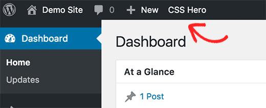 Запуск CSS Hero