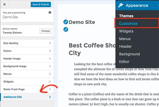 Добавление пользовательских CSS в WordPress