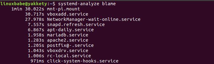 Linux-времени загрузки-анализ