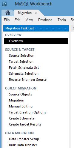 Обзор миграции MySQL Workbench