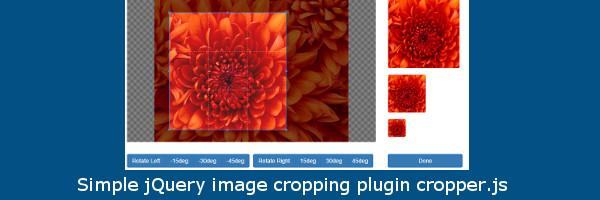 Простая обрезка изображения с помощью cropper.js и PHP