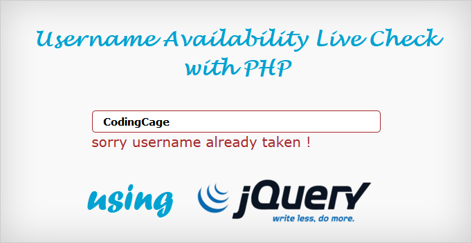 Проверка доступности имени пользователя с помощью JQuery и Ajax
