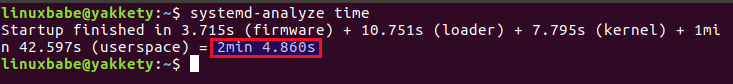 Ubuntu Systemd анализ времени