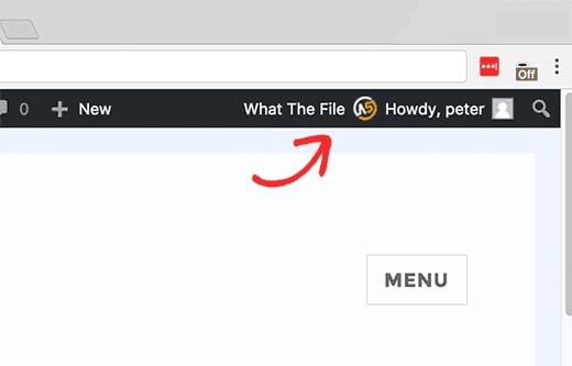В меню Файл в админке WordPress