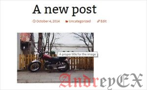 атрибут заголовка отображается в виде всплывающей подсказки для изображения