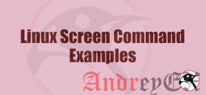 Основы использования команды screen и примеры в Linux