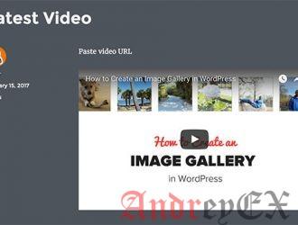 Встроенное видео в блоге на WordPress