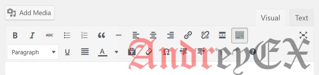 Не добавить кнопку Контактной формы 7 в редактор WordPress
