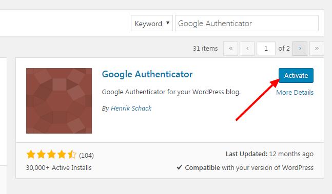 Google Authenticator в WordPress