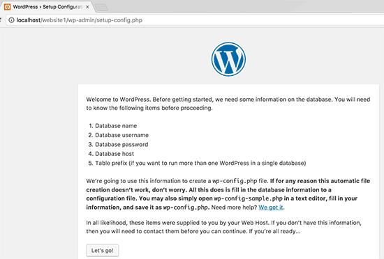Предварительная настройка WordPress