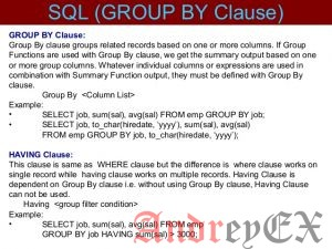 SQL - Group By