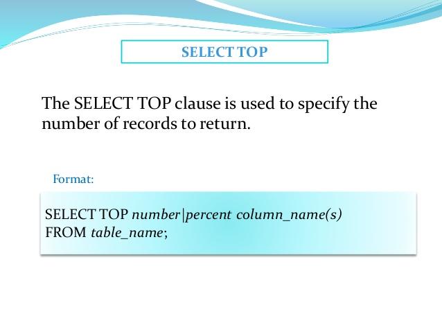 SQL - Класс TOP, LIMIT или ROWNUM