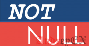 SQL - Константа NOT NULL