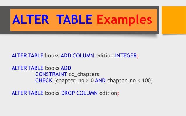 SQL - команда ALTER TABLE