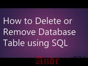 SQL - удаление базы данных