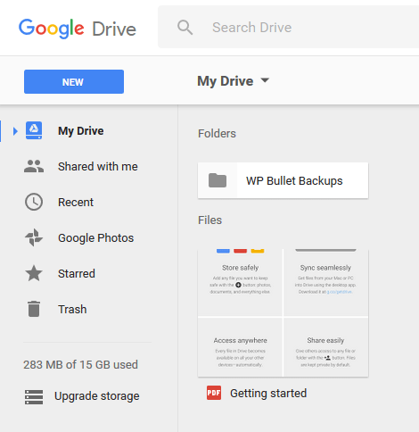 Создание каталога на GDrive