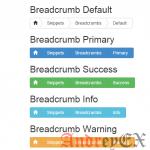 Bootstrap - Breadcrumbs