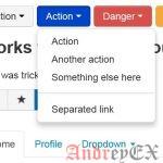Bootstrap - Кнопки с выпадающим списком