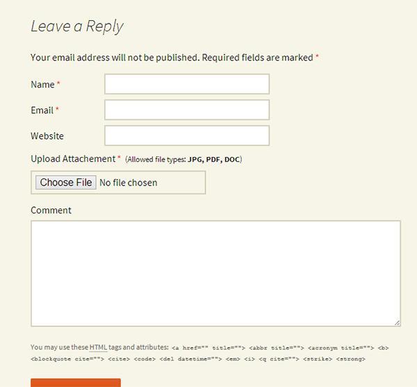 Как добавить вложение в комментарий в WordPress, плагины