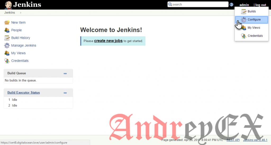 Перейдите к странице администратора пароля Jenkins