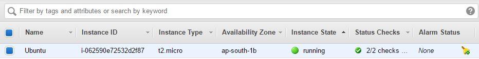 Установка Ubuntu в AWS