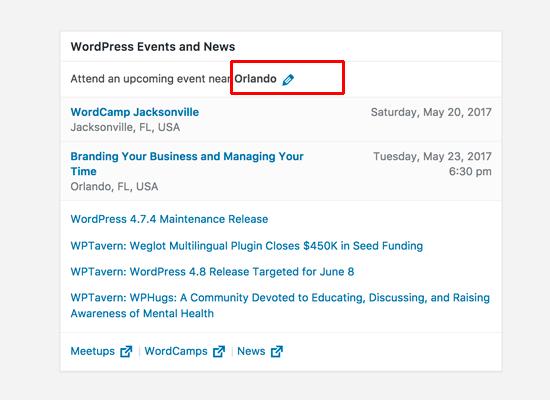 Виджет новостей и событий в WordPress