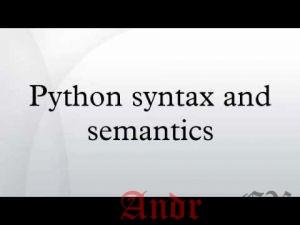 Python 3 - Базовый синтаксис
