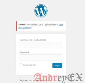 Как изменить в админке WordPress сообщение об ошибке при входе