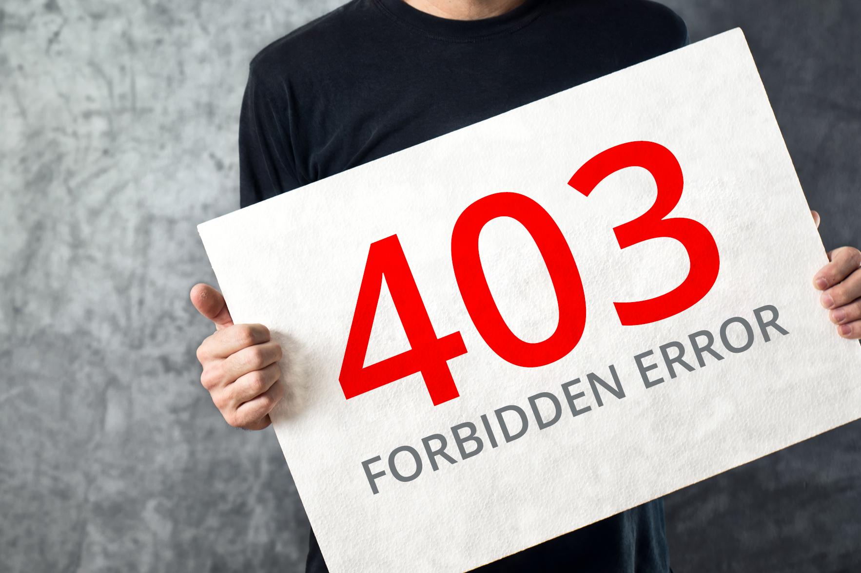 Картинки по запросу Ошибка 403 - почему она появляется?